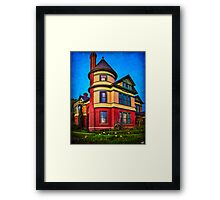 The House on the Corner Framed Print