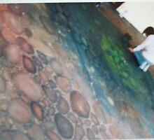 Floor Mural- Cafe at Fairbridge by Jen Ruyter