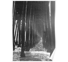 Endless Water Path Under the Pier Poster