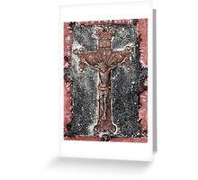 Weathered Crucifix Greeting Card