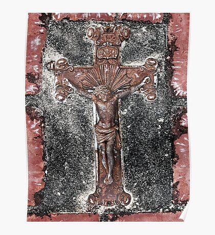 Weathered Crucifix Poster