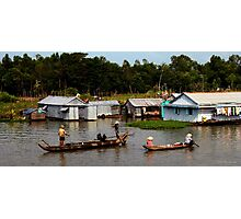 A Floating Community - Viet Nam Photographic Print
