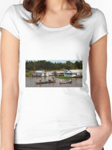 A Floating Community - Viet Nam Women's Fitted Scoop T-Shirt