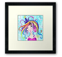Whimiscal Party Girl Framed Print