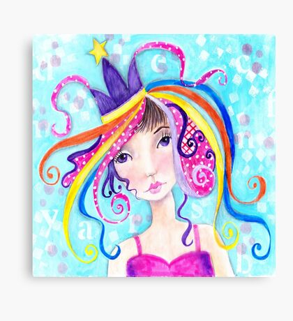 Whimiscal Party Girl Canvas Print