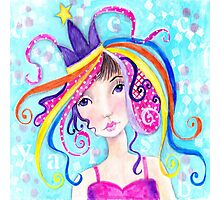 Whimiscal Party Girl Photographic Print