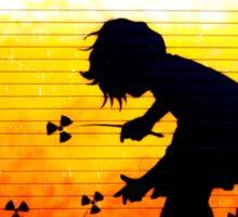 brick lane graffiti nuclear girl Sticker