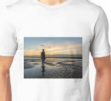 Sunset light, Crosby beach Unisex T-Shirt
