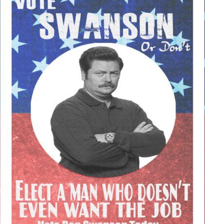 Vote ron swanson! Sticker