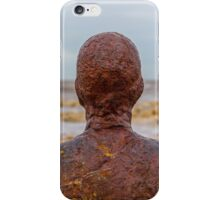 Man of Iron, Crosby beach, Liverpool iPhone Case/Skin