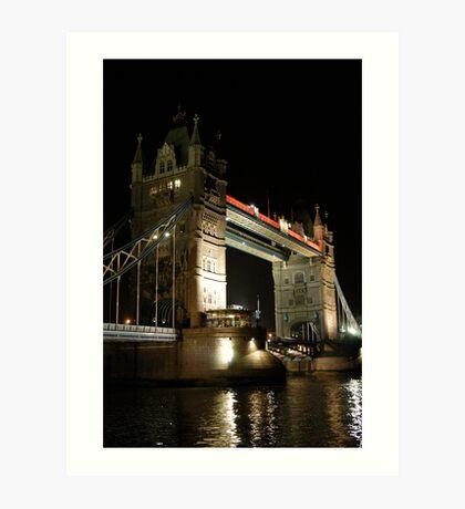 Tower Bridge Night Art Print