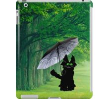 Black Cat In The Rain iPad Case/Skin