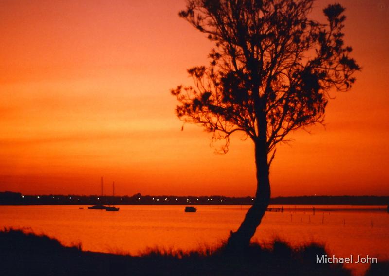 Orange Sunset by Michael John