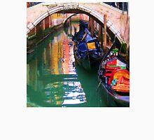 Gondolas sleeping on a Venice canal Unisex T-Shirt
