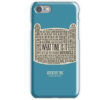 Adventure Time typography Finn head iPhone Case/Skin