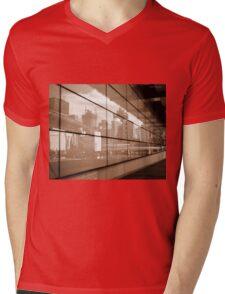 Reflections - Brisbane City Mens V-Neck T-Shirt