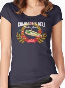 Komrade's Deli Women's Fitted Scoop T-Shirt
