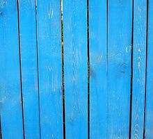 Fragment of a fence from wooden planks by vladromensky