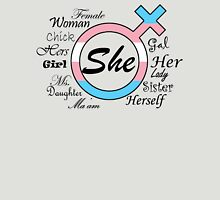 She (Light) Womens Fitted T-Shirt