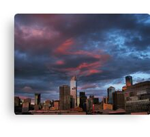 Sunset over the city. Canvas Print