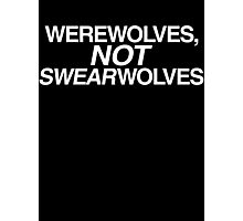 Werewolves Not Swearwolves - What We Do in the Shadows (White) Photographic Print