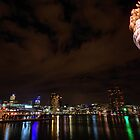Fireworks over the water by Robyn Lakeman