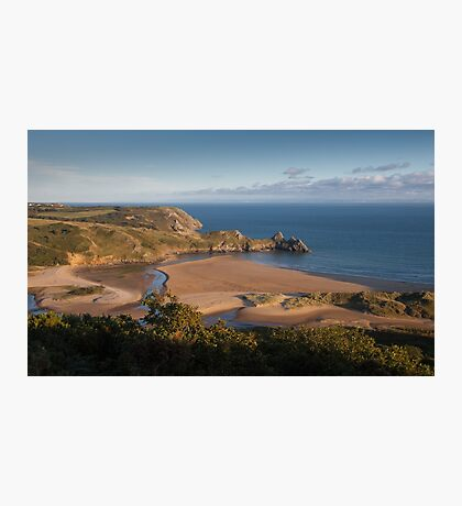 Three Cliffs Bay Gower Photographic Print