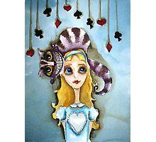 Alice in Wonderland - cat head Photographic Print
