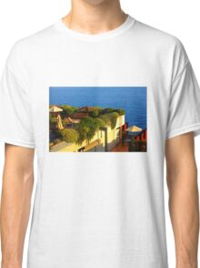 Sea view Balcony on the French Riviera at Sunset Classic T-Shirt