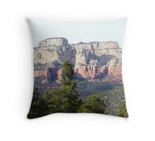 Red Rocks, Sedona Throw Pillow