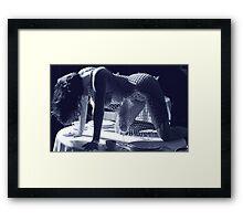 Hollywood Blue Framed Print