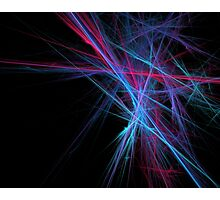 Dreamy blazing colorful lines Photographic Print