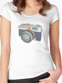 Vintage old photo camera Women's Fitted Scoop T-Shirt