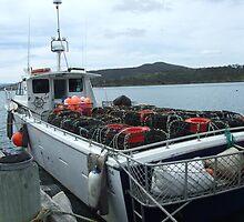 Crab Boat at Dunalley by GilliB