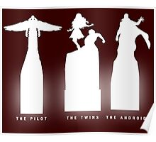 Silhouette Superheroes Poster