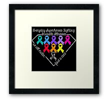 Everyday Superheroes - Invisible Illnesses Framed Print