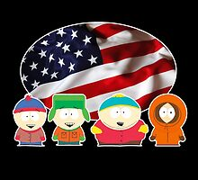 South park- US flag ( black ) by Cornichon66