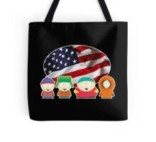South park- US flag ( black ) Tote Bag