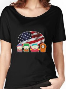 South park- US flag ( black ) Women's Relaxed Fit T-Shirt