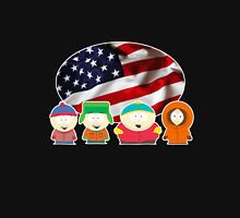South park- US flag ( black ) Unisex T-Shirt