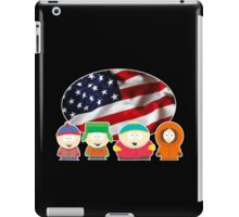 South park- US flag ( black ) iPad Case/Skin