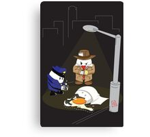 Homicide for Breakfast Canvas Print
