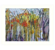 Late winter trees Art Print