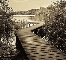 Jetty at Bolam Lake by Kevin Allan