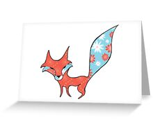 Fun and Whimsical Fox Greeting Card