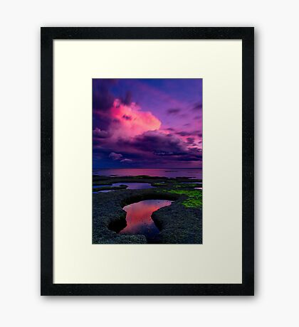 """Evening Tempest"" Framed Print"