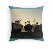 Early Morning light in Cadgewith Throw Pillow