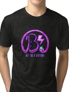 Hit the B Button! - Bubblegum Tri-blend T-Shirt