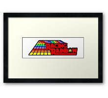 Sticker! Racing Rainbow Framed Print