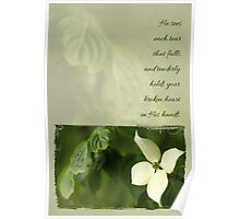 He Sees Each Tear - Sympathy Card Poster